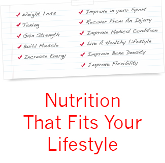 Nutrition that fits your lifestyle